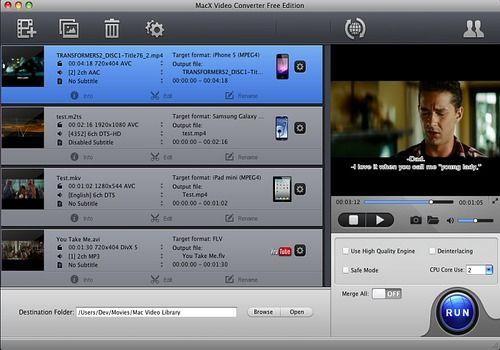 Telecharger MacX Video Converter Free Edition
