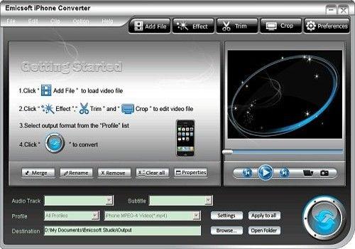 Telecharger Emicsoft iPhone Convertisseur