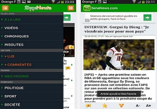Telecharger SeneNews Android