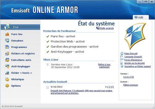 Telecharger Emsisoft Online Armor