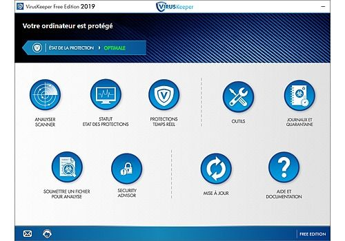 Telecharger VirusKeeper 2019 Free Edition