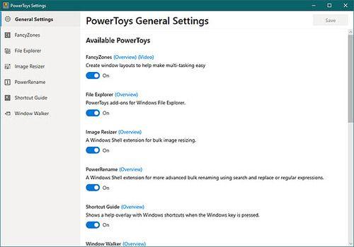Telecharger Microsoft PowerToys
