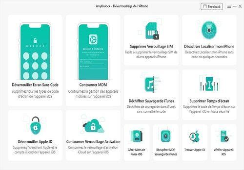 Telecharger AnyUnlock - Déverrouillage iPhone(Win)