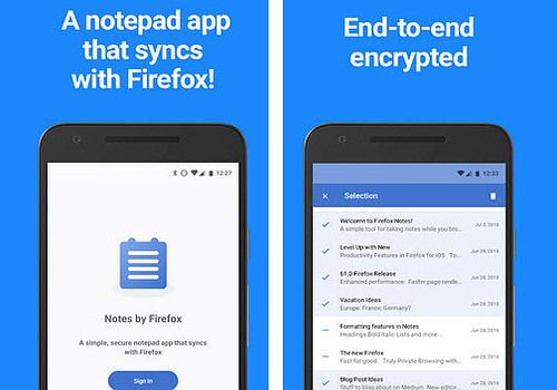 Telecharger Notes By Firefox Android