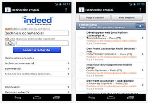 Telecharger Indeed: Recherche d'Emploi Android