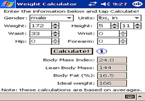 Telecharger Weight Calculator