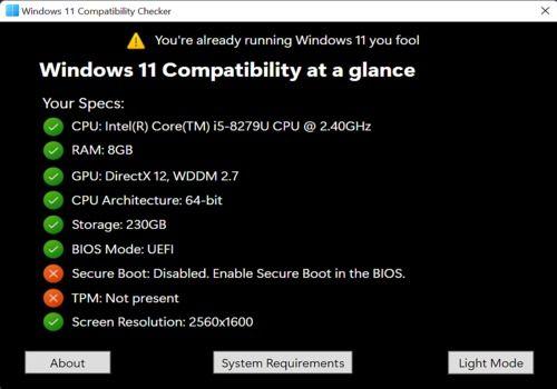 Telecharger Windows 11 Compatibility Checker
