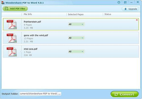 Telecharger Wondershare PDF to Word Converter