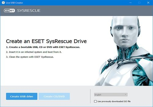 Telecharger ESET SysRescue Live