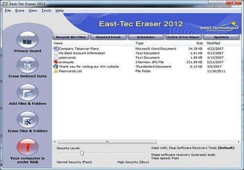 Telecharger East-Tec Eraser 2012