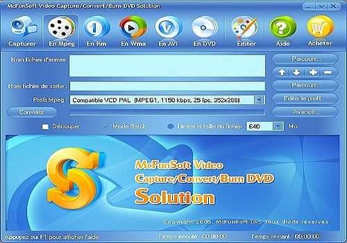 Telecharger McFunSoft Video Capture/Convert/Burn DVD Solution