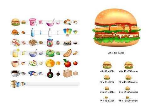 Telecharger Food Icon Library