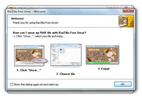 Telecharger RarZilla Free Unrar