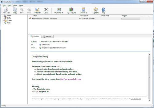 Telecharger Emailsaler Bulk Email Sender 2.5
