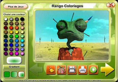 Telecharger Rango Coloring Game