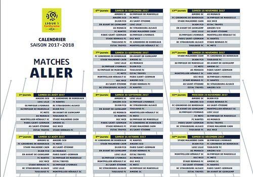 Telecharger Calendrier officiel Ligue 1 2017-2018