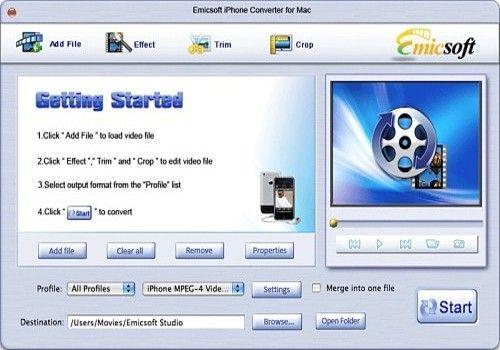Telecharger Emicsoft iPhone Convertisseur pour Mac