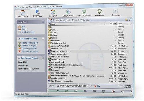 Telecharger Free Easy CD DVD Burner