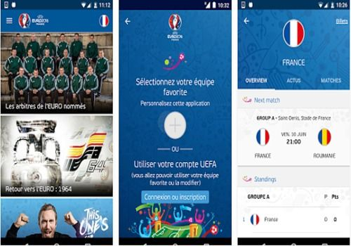 Telecharger App officielle UEFA EURO 2016 Android