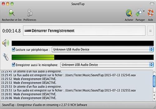 Telecharger SoundTap - Enregistrement de streaming audio gratuit pour Mac