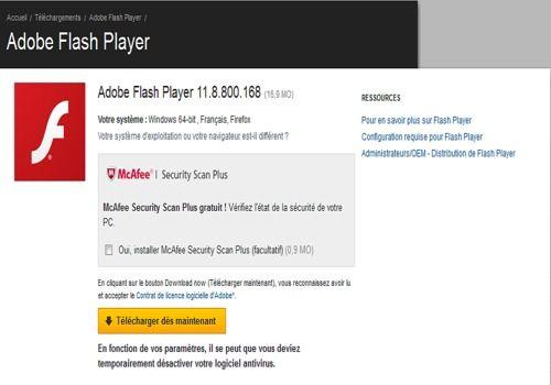 Telecharger Adobe Flash Player