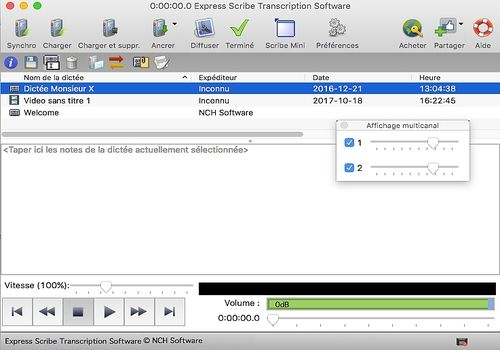 Telecharger Express Scribe - Transcription pour Mac