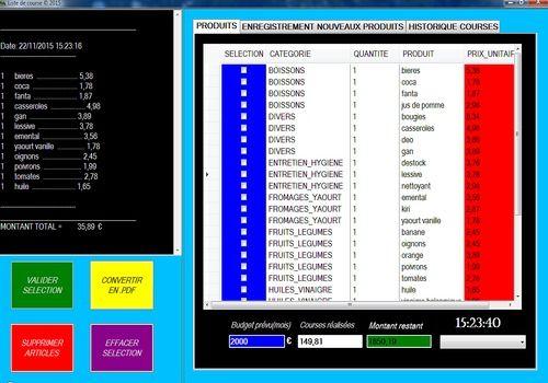 Telecharger logiciel pour dresser liste de courses