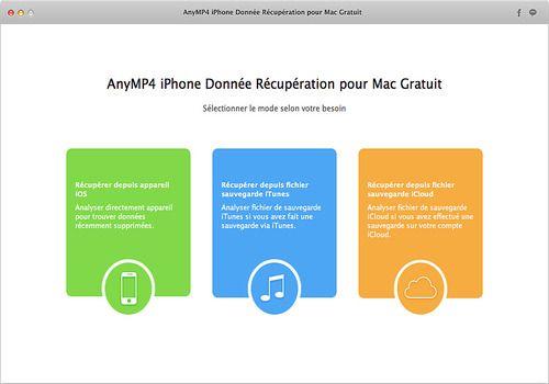 Telecharger AnyMP4 iPhone Donnée Récupération pour Mac Gratuit