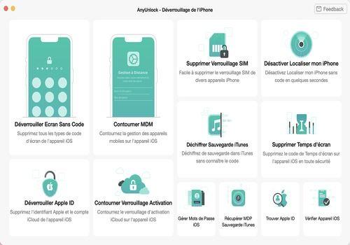 Telecharger AnyUnlock - Déverrouillage iPhone(Mac)