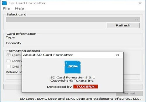 FORMATTER FOR 4.0 SD/SDHC/SDXC GRATUITEMENT SD TÉLÉCHARGER