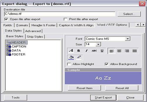 Telecharger Advanced Data Export VCL